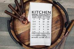 Baking Equivalents Baking Measurements Kitchen conversion Product Image 2