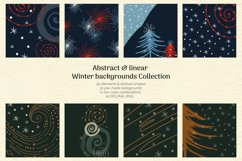 Abstract Linear Winter Background Collection Product Image 1