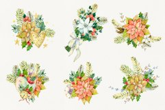 Watercolor Christmas arrangements. Winter flowers collection Product Image 2