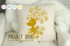 Christmas Reindeer paper cut SVG DXF EPS files Product Image 4
