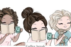 Coffee Break, Girls - Clipart Product Image 2