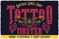 Tattoo Master. Font and graphics. Product Image 1
