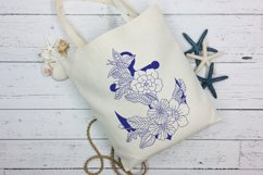 Anchor with doodle flowers Product Image 4