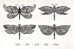 Dragonfly Zentangle - Doodle Art SVG Product Image 1