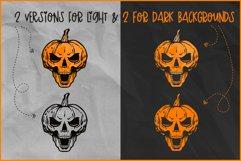 Halloween SVG, Skull Pumpkin SVG, Jack O'Lantern Skull Rocks Product Image 3