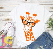 Giraffe in glasses svg, Cute Funny Kids Mother svg clip art Product Image 3