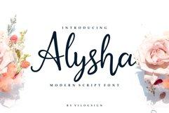 Alysha // Modern Script Font Product Image 1