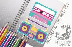 Retro Tape Player Bundle SVG, Silhouette Studio, Cricut, Eps Product Image 1