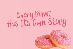 Pink Donuts - Hand drawn Cute Font Product Image 2