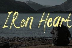 Iron Heart Brush Script Product Image 1
