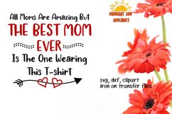Mother's day svg cut file, Tshirt design for mothers, clipart, iron on transfer, dxf, printable jpg, gift for mom  Product Image 1