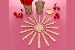 Flower Pot - laser cutting file Product Image 3