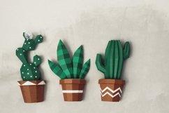 3d cactus, wall decor, papercraft cactus,cut model Product Image 3