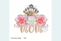 Mom with Roses and Crown PNG Product Image 1