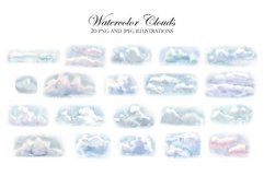 Watercolor Sky and Clouds. Patterns, Illustrations, Cliparts Product Image 4