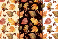 Autumn leaves, watercolor Product Image 2