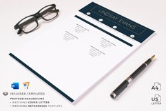Professional Resume Template Bundle, Cover Letter, Reference Product Image 12