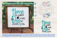 Home is Where the Dog Runs To Greet You Pet Cut File LL138F Product Image 1