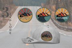 Outdoor Travel. Set of twelve colorful round logos. Product Image 5