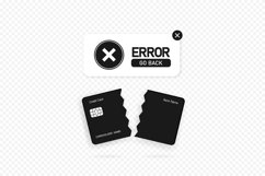 Failed payment banner. Declined transaction Product Image 1