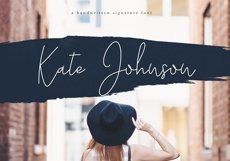 Kate Johnson - A Signature Script Font (with alternative) Product Image 1