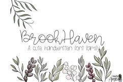 BrookHaven - a smooth handwritten script font Product Image 1