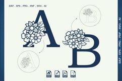 Split Monogram Letters Svg, Dxf, Cdr, Eps, Png, Ai, Cut File Product Image 1