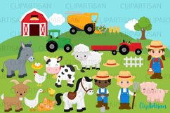 Farm Animals Clipart, Farmer Product Image 1