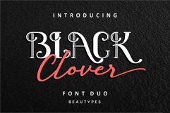 Black Clover Font Duo Product Image 1