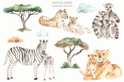 Mom and baby animals Watercolor Product Image 6