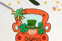 St Patrick's day Truck with leprechaun, sublimation PNG Product Image 2