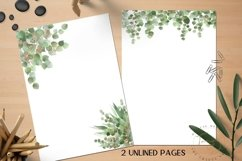 Green Printable Stationery Set, 4 Page Note Paper Product Image 3