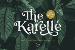 Karelle SVG - An Organic Serif Product Image 1