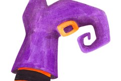 Watercolor Witch legs clipart Halloween party decoration Product Image 3