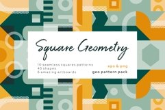 Square geometry pattern collection Product Image 1