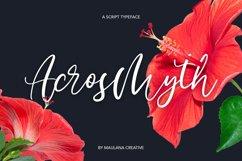 Acrosmyth Script Typeface Product Image 1