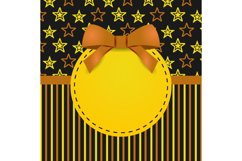 Greeting Card Template Design with Star Graphic Product Image 2