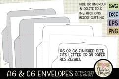 A6 & C6 Envelope SVG - Envelope Cutting File Template Product Image 6