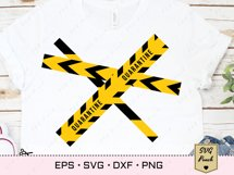 Caution do not cross tape SVG Product Image 3