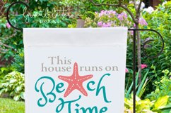 This House Runs On Beach Time SVG DXF LL034B2 Product Image 2
