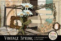 Digital Scrapbook Kit - Vintage Floral Scrapbooking Clipart Product Image 1