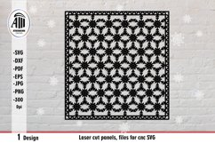 Laser cut panel, files for cnc. Christmas ornament SVG. Product Image 2