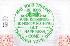 Irish Blessing Cut File and Sublimation Product Image 1