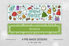 Doodle New Year Big set Vector Clipart Product Image 6