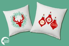 Reindeer clipart, invitation embellishments, graphics, illustrations AMB-1117 Product Image 3