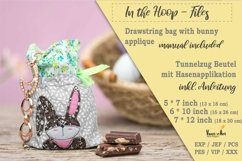 ITH -Drawstring Bag with Bunny - Embroidery File Product Image 1