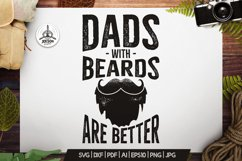 Retro Beard Dad Print / Vintage Fathers Day TShirt SVG File Product Image 1