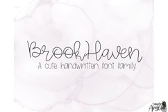 BrookHaven - a smooth handwritten script font Product Image 5