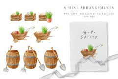 Gardening Watercolor Clipart. Spring Garden Tools PNG Set Product Image 3