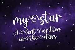 My Star - a font written in the stars Product Image 1